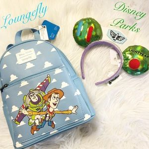 🆕Loungefly Woody & Buzz mini backpack with Ears